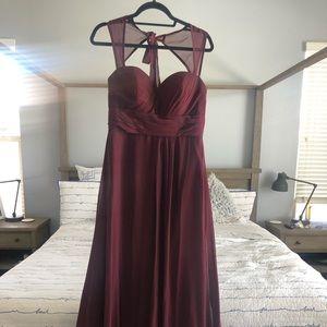 Bridemaid dress - wine
